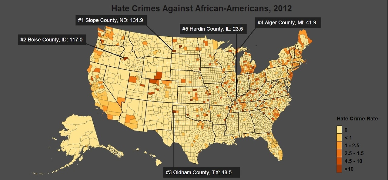 hate crimes against african americans Hate crimes against african americans torres, sam 1999-02-01 00:00:00 this article addresses hate crime against african americans in the united states the author looks at the data that the federal bureau of investigation has gathered from 1990 to 1996 regarding hate crime against african americans.